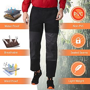 Wildcraft Hypadry Plus Unisex Rain Pant - Black